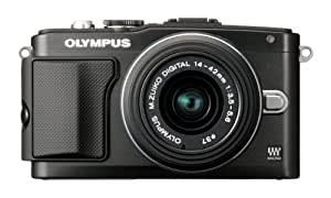 "Olympus PEN E-PL5 - Cámara EVIL de 16.1 Mp (pantalla 3"", estabilizador óptico, vídeo Full HD), color negro - kit con objetivo II R 14-42mm f/3.5"