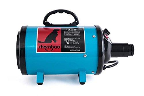SHERNBAO High Velocity Professional Dog/Pet Grooming Force Dryer/Blower (2.0HP, DarkGreen)