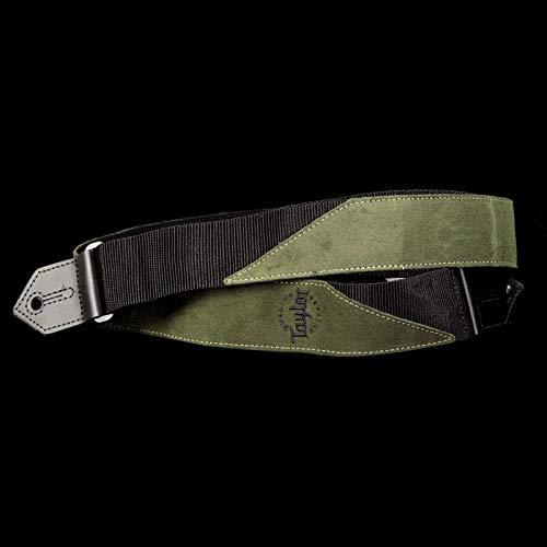 Taylor Suede/Poly Logo Guitar Strap Olive