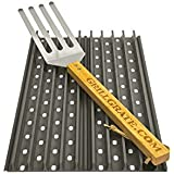 "Set of TWO 17 3/8"" GrillGrate Panels (interlocking) + GrateTool"