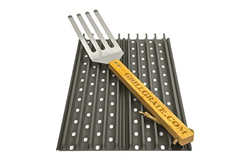 - GRILL GRATE BRAND THE ORIGINAL RAISED RAIL DESIGN GET FIRED UP · WWW.GRILLGRATE.COM Set of Two 17.375