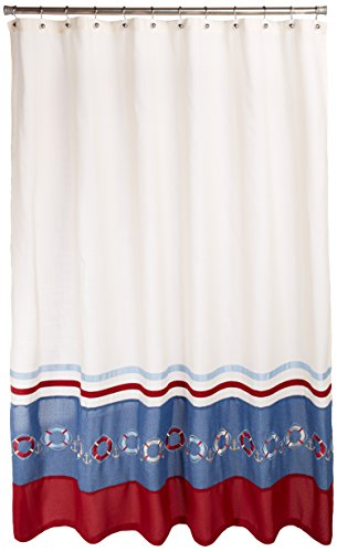 Avanti Linens Life Preservers Ii Shower Curtain, Ivory