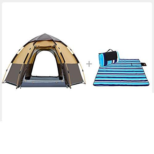 でるがっかりする投げるTY&WJ 家族のテント 二重層 ドームテント 厚い 防雨 野外活動 登山 ティーピー 全自動 3-4 人