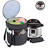 Luxja Carrying Bag Compatible with Instant Pot (6 Quart), Travel Tote Bag for 6 Quart Pressure Cooker and Extra Accessories, Black