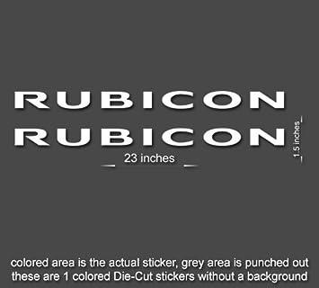 RUBICON Jeep Hood Decal Set Stickers Fender CJ YJ TJ JK