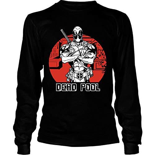 NEWKSTORE Deadpool Costume T Shirt, Deadpool Big Fans T Shirt, Superhero T Shirt - Long Sleeve Tees (XXXL, -