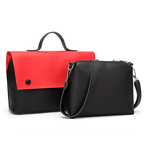 Bag Mother Red Shoulder Leisure Bag Fringe Magnetic Color Messenger Square Simple Retro Hit Pu nqYxa1A