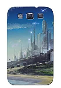 Durable Case For The Galaxy S3- Eco-friendly Retail Packaging(edge Of Eternity Fantasy Scifi Game City Spaceship)