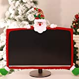 Computer Monitor Cover, Computer Case Christmas Three-Dimensional Cartoon Decorations for Home Mall Office Photography Christmas New Year Gift Christmas Tree (Santa Claus)