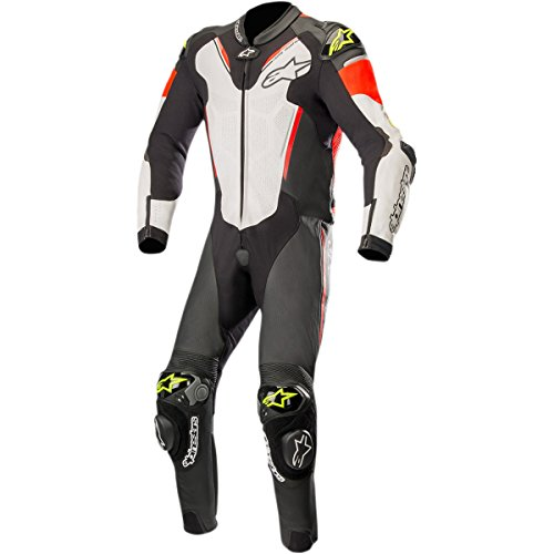 Alpinestars Atem V3 Men's 1-Piece Street Race Suits - Black/White/Red/Yellow / 60 by Alpinestars