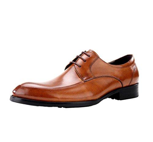 zmlsc Cuir Chaussures Hommes Casual Business Doux Arrondi Pointu Bande Printemps Été Automne Hiver Couleur Sports Brown mh9BLRda
