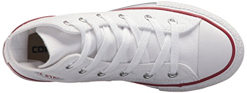 Taylor Chuck Converse Hi White Kids White Unisex Trainers All Star Optical d5Frxarn