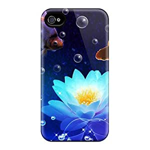 High-end Case Cover Protector For Iphone 4/4s(fishing For Water Lilies)