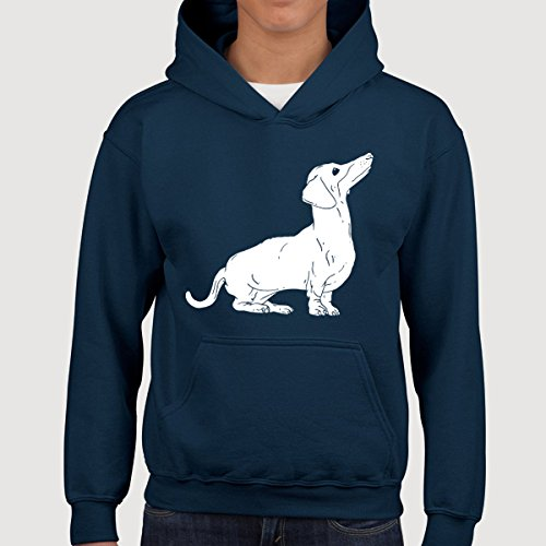 Dachshund Dog Kids Children Pullover Hoodie Hooded Sweatshirt Sweater Jumper Youth