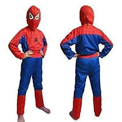 Tony Stark Halloween Costume.Tony Stark Polyester Halloween Cosplay Mind Masala Spiderman Costume For Kids 3 4 Years Violet And Red