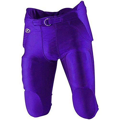 Russell Youth Football Pants (Rawlings F2500P Integrated Youth Football Pants (Small, Purple))