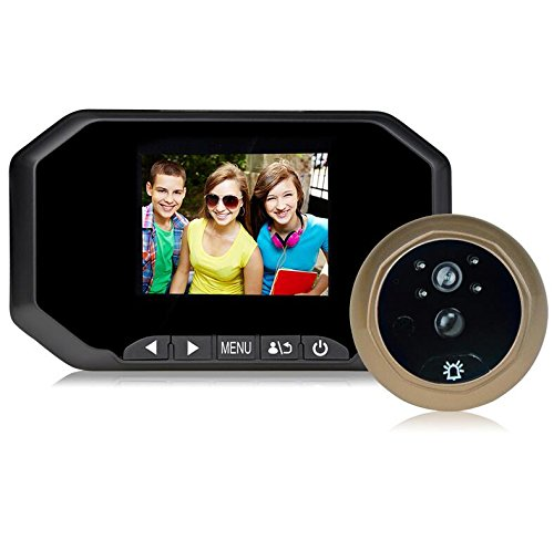 Camonity 3.5'' LCD Screen Digital Peephole Viewer Doorbell Monitor 160 Degree Home Security Video Camera Cam Safety with Night Vision No Disturbing Functions (Black)