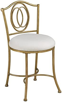 picture of Hillsdale Furniture Emerson Vanity Stool, Golden Bronze