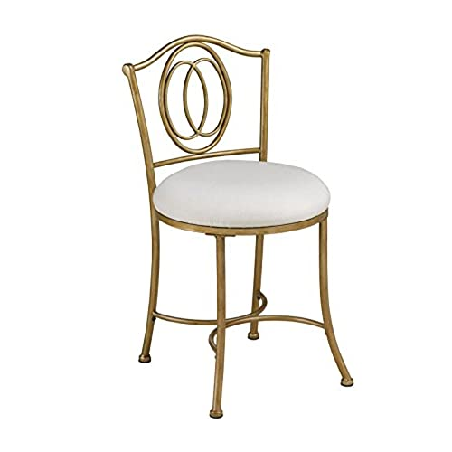 Hillsdale Emerson Vanity Stool, Golden Bronze