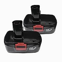 Topbatt 2Packs 19.2V 3.0Ah Ni-Mh Replacement Battery for Craftsman C3 315-114850 315-114480
