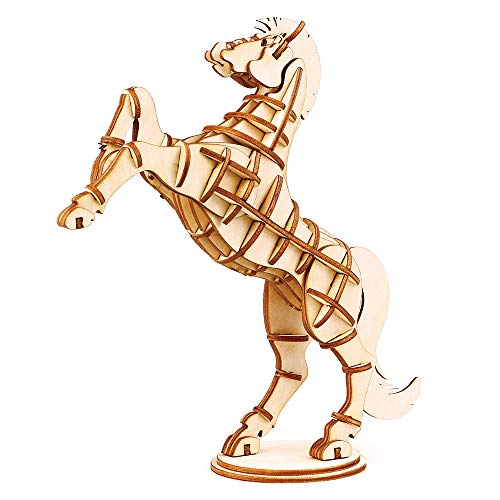 - Rolife Build Your Own 3D Wooden Assembly Puzzle Wood Craft Kit Horse Model, Gifts for Kids and Adults