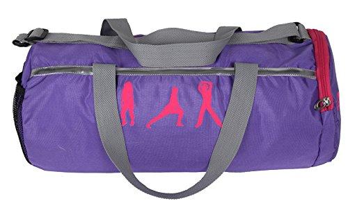 Polestar 20 Litros Mochila con cuerdas resistentes de agua Viajes Deportes Gimnasio barril Bolsas Púrpura