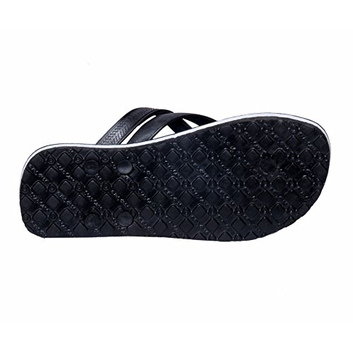 Black And House Care Slipper Rubber Chappal Flip Step IndiWeaves Flop Hawaai Men 1fpqA1Pw7