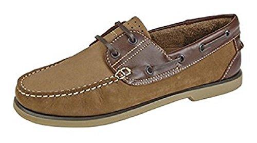 Dek - botas sin cordones de cuero hombre marrón - Tan/Brown Nubuck