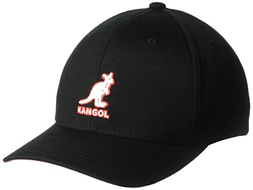 (Kangol Unisex-Adult's 3D Wool Flexfit Baseball Cap, Black, L/XL)