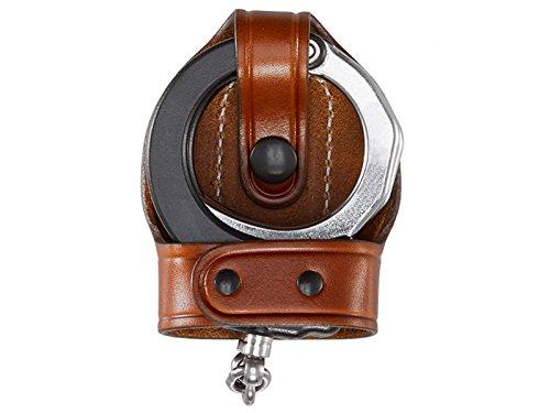Aker Leather Products Bikini Handcuff Case, ASP 503A Bikini Handcuff Case, ASP, Tan