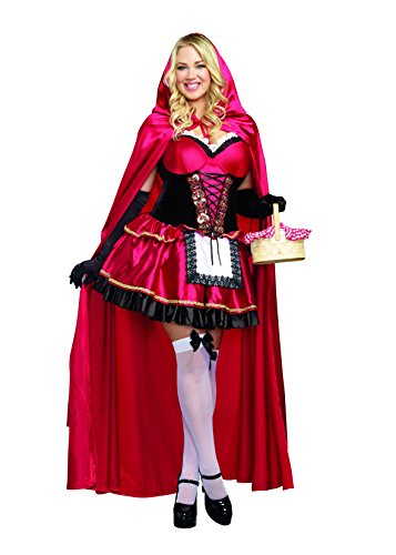 Dreamgirl Women's Plus-Size Little Red Riding Hood Costume, -
