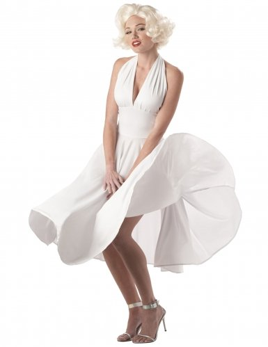 California Costumes Women's  Marilyn Costume,White,X-Large]()