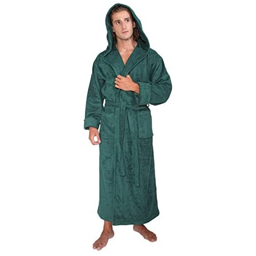 Arus Men s Hood n Full Ankle Length Hooded Turkish Cotton Bathrobe low-cost 4a874d3e9