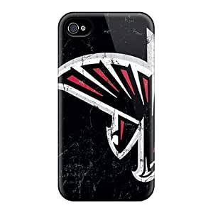 Excellent Hard Cell-phone Case For Iphone 4/4s (WTe11431vBdx) Unique Design Colorful Atlanta Falcons Skin