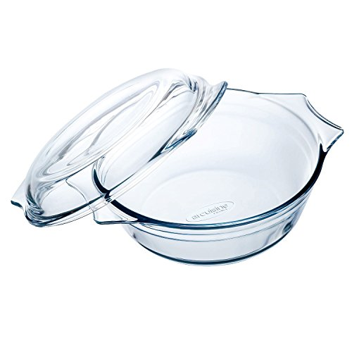 Arcuisine Borosilicate Glass Round Casserole w/Lid 17.8 Centimeters / 1 Liter