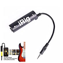 iRig Guitar Effects Interface Adapter Converter Guitar Tuner Instrument Bass Cables with 3.5mm Plug for iPhone/iPad/iPod