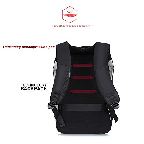 94fb07429f58 Reichlixin Laptop Water Repellent Backpack with USB Charging Port knapsack,  Outdoor Travel Large Capacity daypacks, Men's and Women's College high ...