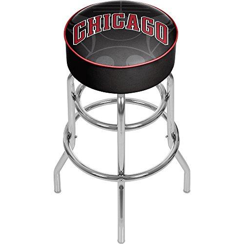 Trademark Gameroom NBA1000-CB2 NBA Padded Swivel bar Stool - Fade - Chicago Bulls - Chicago Bulls Bar Stools