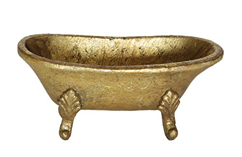 [Creative Co-Op Pewter Tub Shaped Jewelry Holder, Gold] (Pewter Decorative Tub)