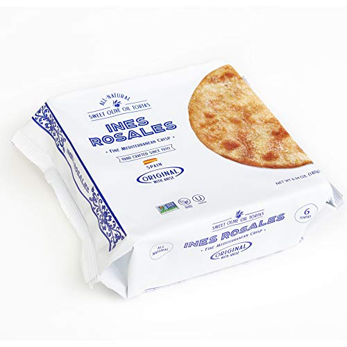 Olive Oil Crackers - Ines Rosales Sweet Olive Oil Tortas, 6.34 Ounce