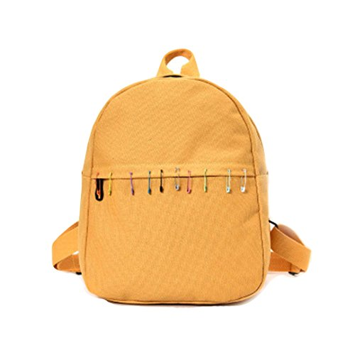Price comparison product image Women Handbag, Hunzed Canvas Backpacks Women Girls School Bags Teenagers Casual Rucksack Travel Handbag Crossbody Shoulder Bag (Yellow)