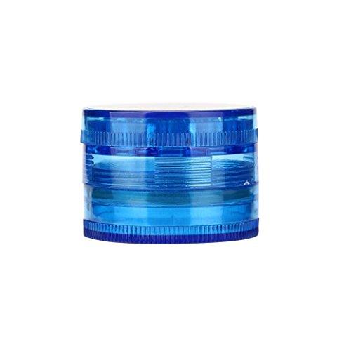 WensLTD 4-Layer Plastic Tobacco Herb Grinder Spice Crusher Grinder, Color Random (Blue) by WensLTD (Image #1)