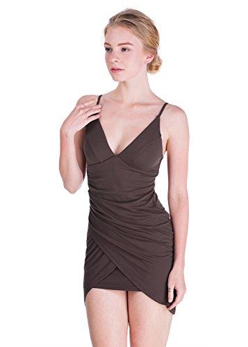 Brown Halter Dress - 5