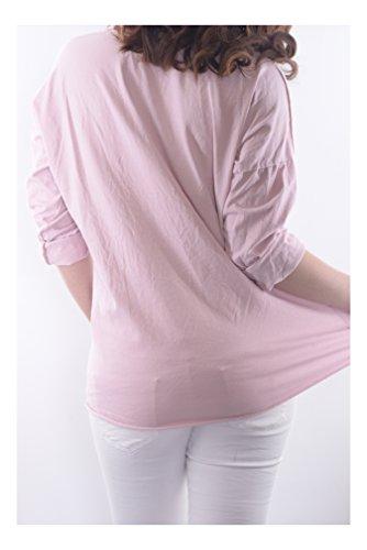 en Transici Italia colores Tops Hecho Camisetas Abbino Ig009 Langarm Chicas Mujeres Varios v8F0Pw