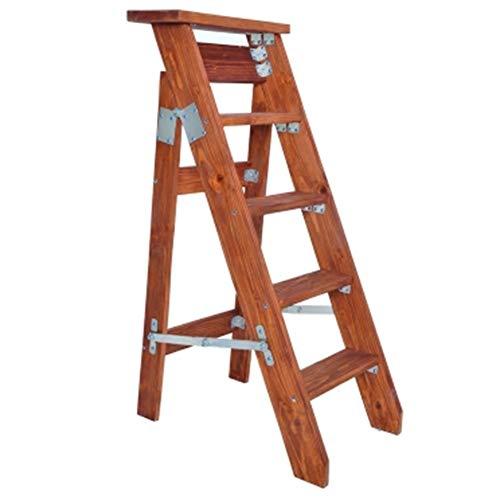 Bseack_store Escalera Escalera Plegable Un Lado Multifunción Ascender Hogar, Alto 90-130cm, Pino (Color : A, Tamaño :...