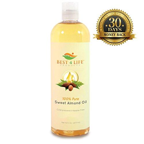 ЛУЧШИЙ 4 LIFE PRODUCTS 100% Pure масло сладкого миндаля 16 гр - природный увлажнитель - холодного отжима - Отлично подходит для кожи, лицо, волосы и ногти - пищевая растительное масло - Идеально подходит для использования в качестве носителя масло для эфи