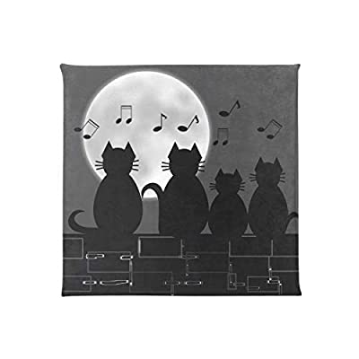 Bardic HNTGHX Outdoor/Indoor Chair Cushion Animal Cat Music Note Square Memory Foam Seat Pads Cushion for Patio Dining, 16