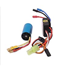 RCAWD 25A Waterproof ESC Electronic Speed Controller +2040 kv4800 Brushless Motor Inrunner Combo for Rc Hobby Model Car Boat HSP Traxxas Arrma Himoto 1Pcs
