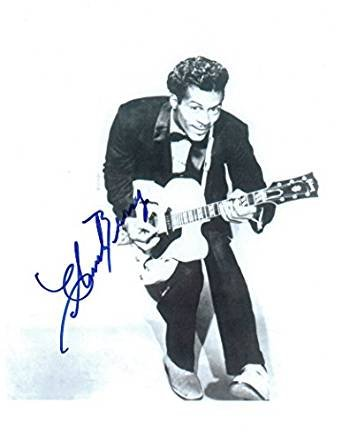 Chuck Berry Signed Autographed Glossy 8x10 Photo - COA Matching Holograms