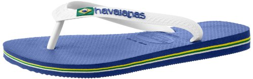 Havaianas Brazil Mix Flip Flop Sandals, Marine Blue, 45/46 BR (13 M US Men's)